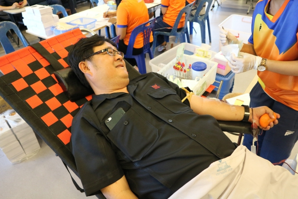 The staff of Pimai Salt Co., Ltd. and subcontract (36 persons) have joint to donated blood for Phimai Hospital