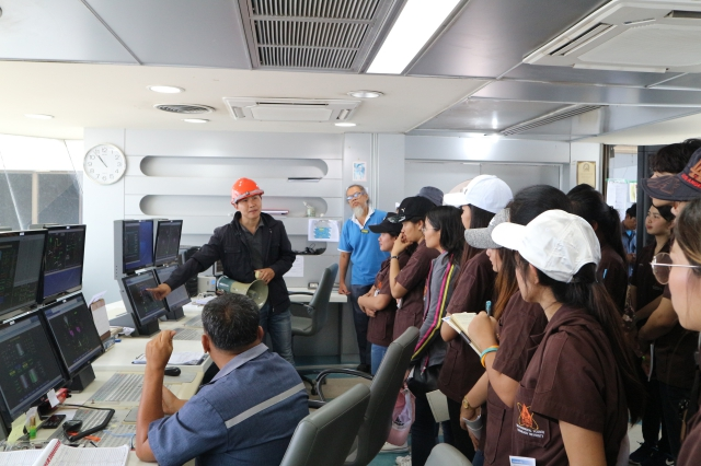 The group of Faculty 's teachers and students (52 persons) from Faculty of Science, Khonkaen University to visit salt plant operation of Pimai Salt Company Limited
